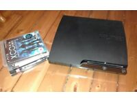 Sony PlayStation 3 PS3 Slim bundle (inc controllers, headset + 3 games)