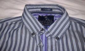 Mens M&S Luxury blue harbour shirts