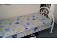 AS NEW SINGLE BED AND MATTRESS