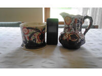 Allertons Gaudy Welsh Jug and Georgian Tankard