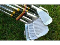 Set of Dunlop Max Power Blade Irons. 3-SW 9 irons. Stainless Steel matched shafts.Nearly new grips.