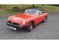 MGB ROADSTER 1977 MOTD AND IN BEAUTIFUL CONDITION