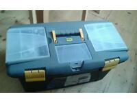 "Large Plastic Tool Box 22"" wide. Focus DIY."