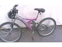 MAGNA AIRWAVE DUNLOP MOUNTAIN BICYCLE WITH DUAL SUSPENSION 18 SPEED 24 INCH WHEEL AVAILABLE FOR SALE