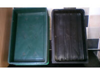 15 seed and gravel trays. 6 Seed and 9 gravel trays