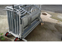 Sheep turnover crate / Ewe turn. Galvanised and in very good condition