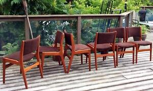 6 Anderstrup Danish Mid Century Modern Solid Teak Dining Chairs REUPHOLSTERED REFINISHED