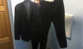 full men's suit top bottoms shirt and two ties