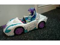 My little pony doll and car