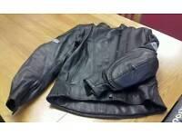 Women's leather bike jacket