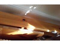 Ikea Stora wooden double bed loft bed