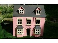 lovely pink dolls house
