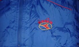 CHILDS DIADORA RAINCOAT (age 4-5) IMMACULATE - BARGAIN! Padded & waterproof - NOW REDUCED!