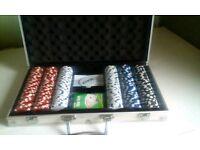 Poker chip set £10 ono