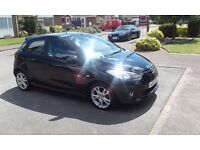 Mazda 2 2008 black 1.5 sport 5 door hatchback with service history, new mot, air con cruise control