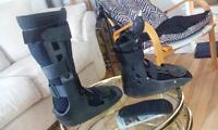 2 boots, for foot/ankle, and lower leg injuries