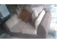 Fabric corner couch & 2 seater couch