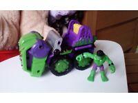 Hulk and truck