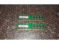 2x Hynix Desktop Memory RAM 1GB 2Rx8 PC2-5300U-555-12 PC2-DDR2 667MHz HYMP112U64CP8-Y5 AB