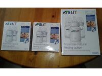 avent 260ml and 125 ml anti colic pes baby feeding bottle set