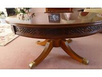 Large pedestal coffee table