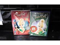 Walt Disney Tinkerbell DVDs and books