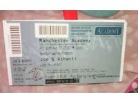 2 Joe & Ashanti live concert tickets for 24 feb 17 at manchester academy £60 for the 2