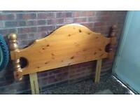 Double pine headboard £10
