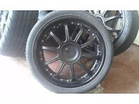 "FORD / PEUGEOT / CITROEN 19"" 4 STUD ALLOYS WITH TYRES"
