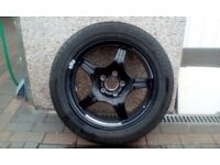 Contintental tyre, alloy spare wheel from Mercedes SL 600.