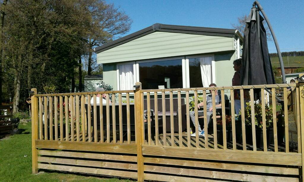 Static caravan 6 berth sited in wooler northumberland