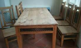 Mexican solid wood dining set