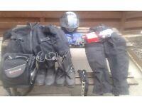 Motor Cycle - Helmet, Jacket & Trousers + Accessories