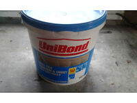 BRAND NEW 12.8KG TUB OF UNIBOND WHITE TILE ADHESIVE AND GROUT WITH ANTI-MOULD