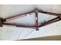 bmx frame and bars