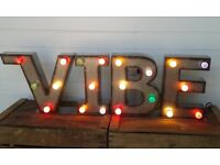 "Vintage Industrial Style Fairground Lights..""VIBE"""