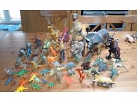 Toy dinosaur collection