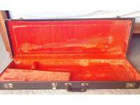 1973 1974 1975 1976 1977 fender Stratocaster tele hard shell case tolex vintage superb condition