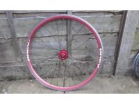 track bike wheel 700c front red system ex and brev.M fixed fixie