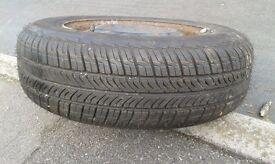 Brand new tyre BF goodrich 175/70/13 on a steel rim