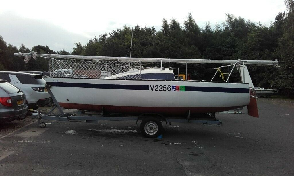 20ft GRP sail boat lifting keel with VHF and many extras Trailer available  | in Alexandria, West Dunbartonshire | Gumtree