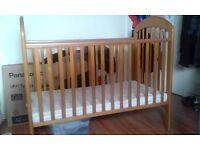 Mamas and Papas cot with mattress £65