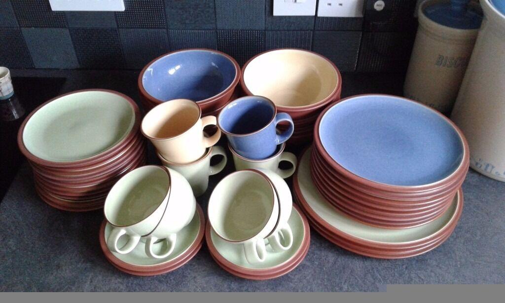 Denby Juice Tableware, 41 pieces assorted colours berry blue, juice ...