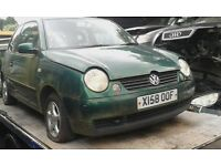 2000 Volkswagen Lupo 1.0 E 3dr green manual BREAKING FOR SPARES