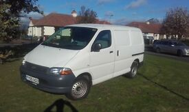 2005 Toyota Hiace 2.5 powervan SWB in great condition, 1 year MOT, no advisorys.