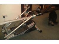 Foldable eliptical cross trainer