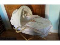 Winnie The Pooh Moses basket with extras
