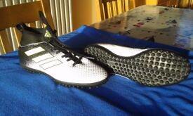 Adults UK6 adidas Ace Tango 17.3 Astroturf Trainers - White/Yellow/Black B117