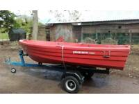 Unsinkable boat trailer and board