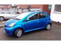 Toyota Aygo 10 reg 2010 for sale £2700. Blue 50000 miles, excellent condition 11 months MOT